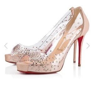 Authentic NIB Christian Louboutin Very Strass 100m